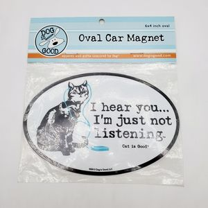 🐕🐶🐈🐱 Dog is Good brand Oval Car Magnet